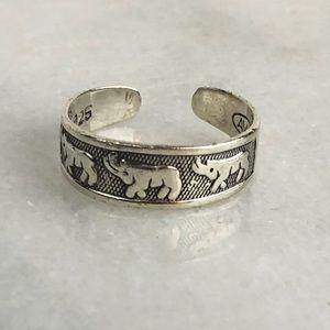 Avon Vintage Zodiac Capricorn Silver Toe Ring